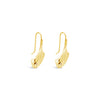 HAMMERED TRIANGLE TEAR EARRINGS, GOLD