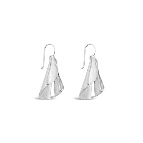 POLISHED FLUTE EARRINGS