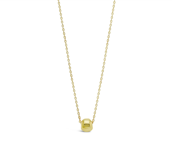 TINY BALL NECKLACE, GOLD