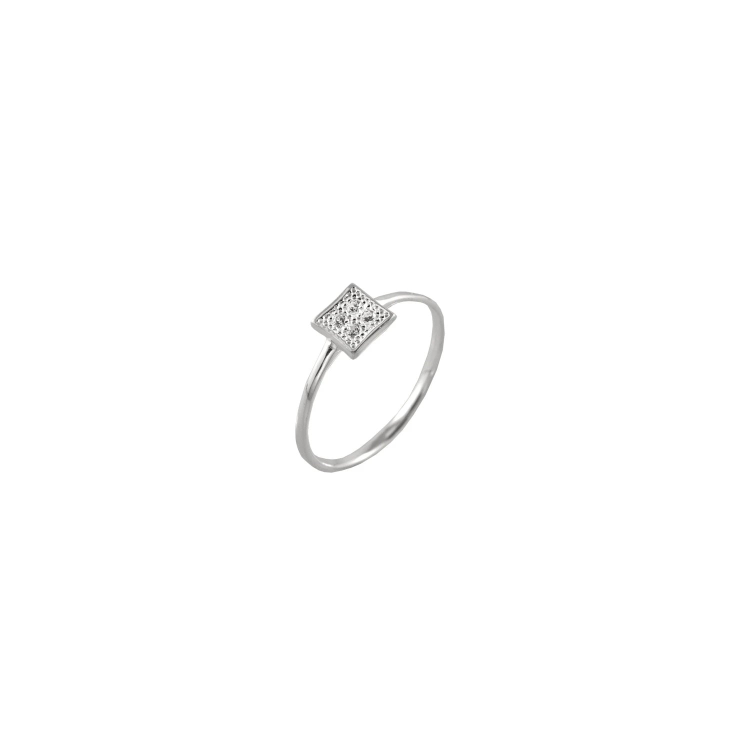 TINY DETAILED SQUARE RING