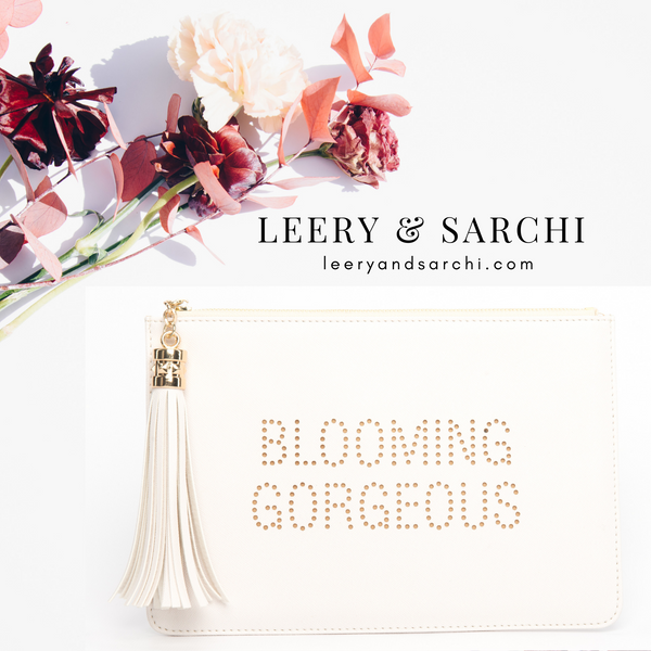 "The perfect ""Blooming Gorgeous"" clutch, pouch, pencil case with cute fox design to keep your belongings. Dress up or down. Great for parties or gifts."