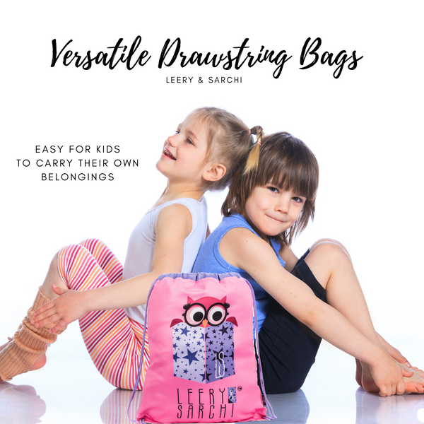 The perfect pink drawstring bag for carrying your wet swimwear, beach towel, library books, sporting needs and a variety of your other favourite items. Use at school or home on the weekend!