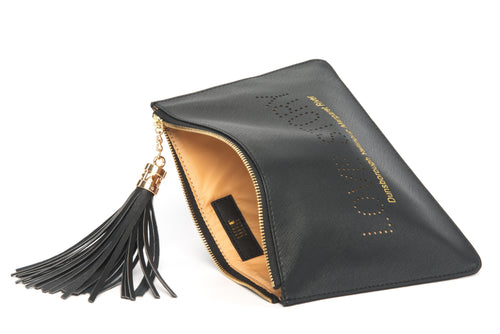 "Love Australia? Gorgeous women's ""Love Story"" black clutch, pouch to complete your look. Clutches with messages, evening & day styles, perfect gifts."