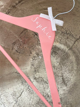 Pink Personalised Coat Hanger