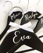 Black Personalised Coat Hanger