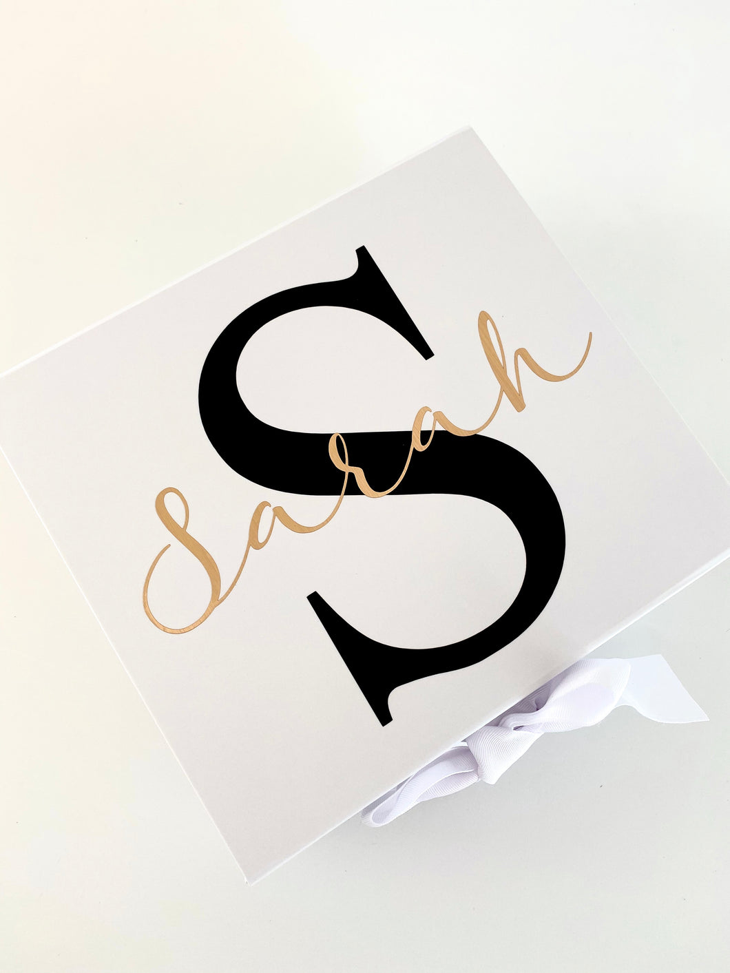 White Small Gift Box - Ribbon Closure