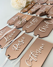 Personalised Acrylic Luggage Tag - Place cards