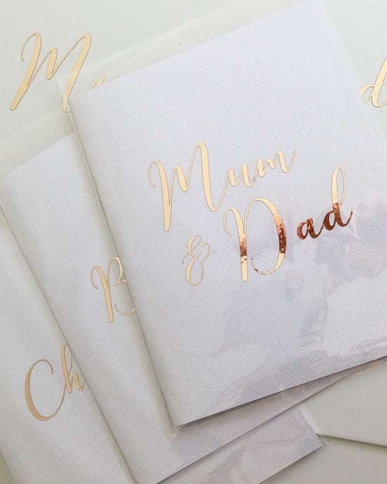 Personalised Foiled Cards