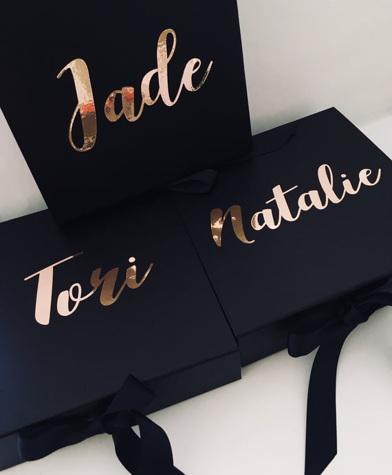 Personalised Gifts Boxes Tagged Bridesmaid Gift Partie Co