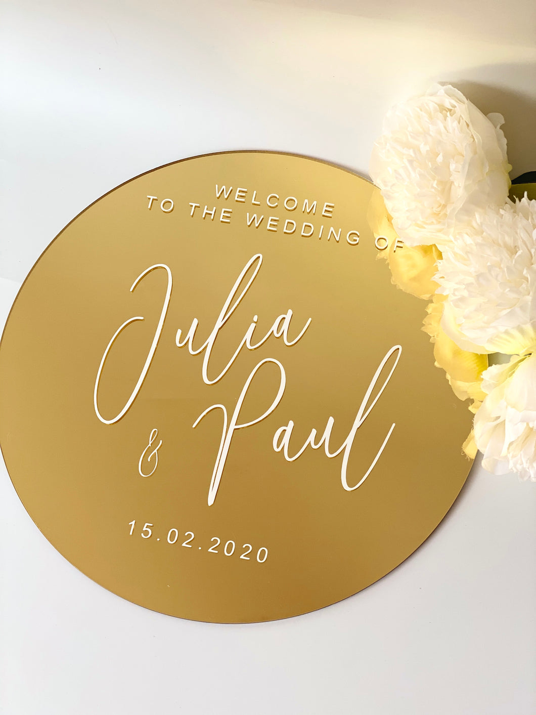 Personalised Round Acrylic Sign - 80 cm