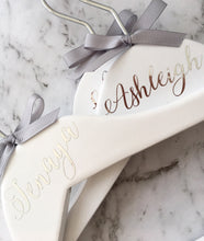 White Personalised Coat Hanger