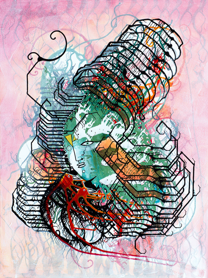 Mental Reverb by Cameron Limbrick - Acrylic Painting