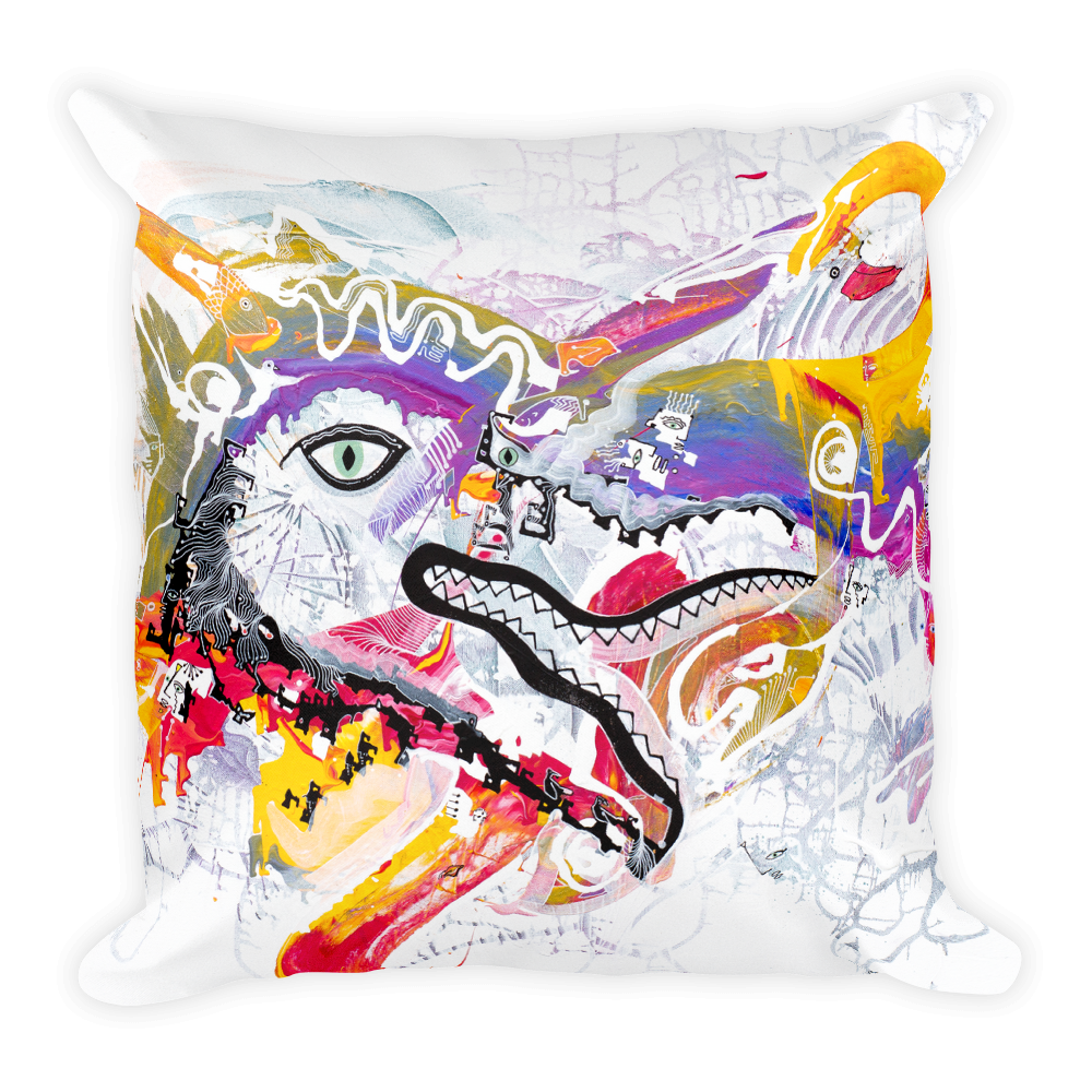 Dragon Eye Square Pillow