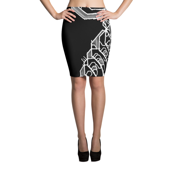 Mental Elemental Pencil Skirt