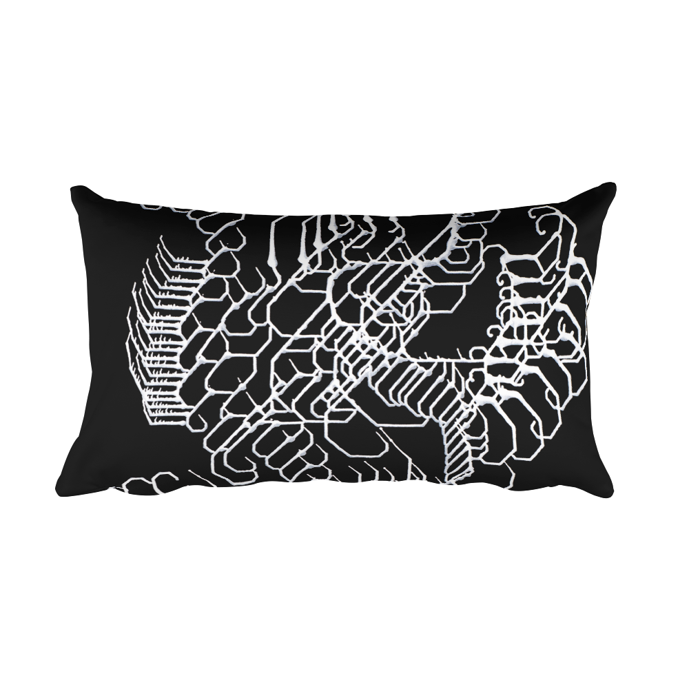 Vibratory Elemental Rectangular Pillow