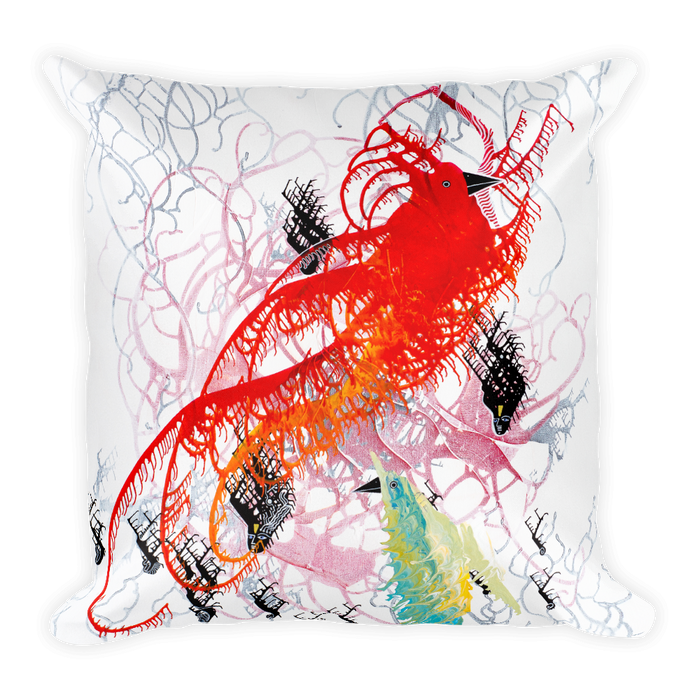 Two Birds Square Pillow