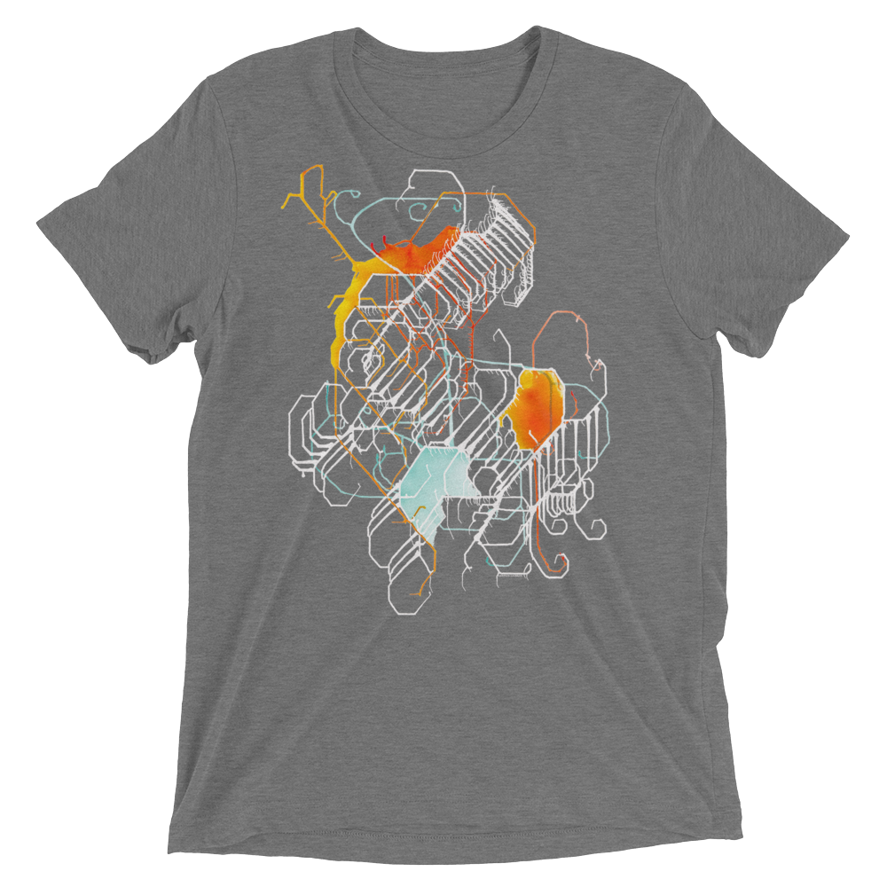 Joy Tri-blend T-shirt (White Graphic)