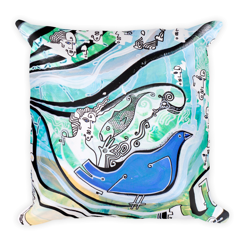 Passerby Square Pillow