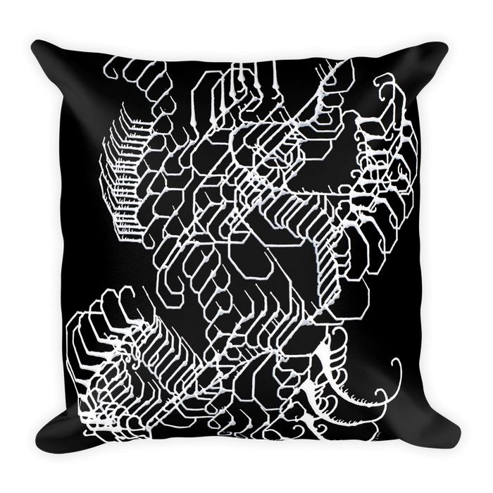 Vibratory Elemental Square Pillow