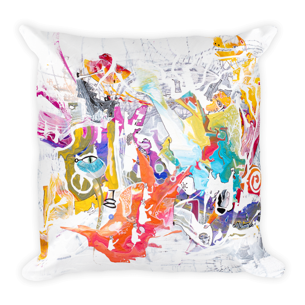 See Horse Square Pillow
