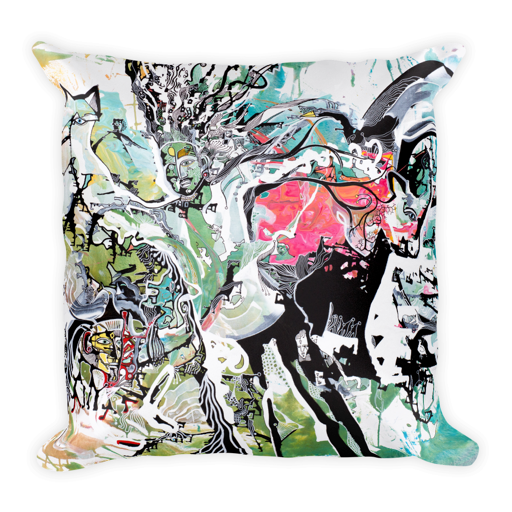 Astral Revelation Square Pillow