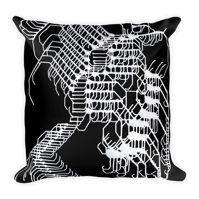 Energetic Elemental Square Pillow