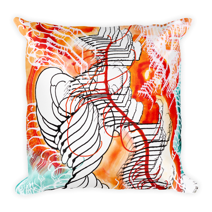 Organism Square Pillow