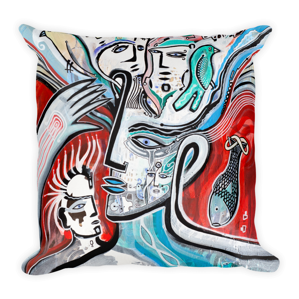 Thoughts Square Pillow