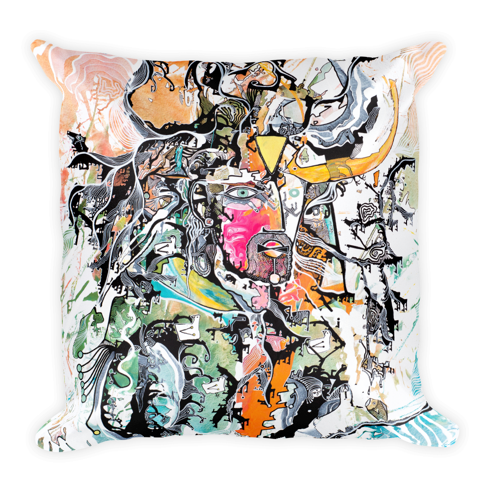 Perception of Astral Consciousness Square Pillow