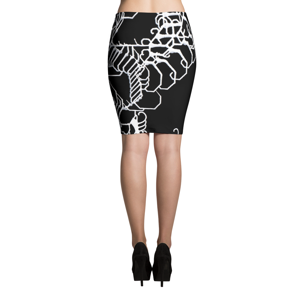Vibratory Elemental Pencil Skirt