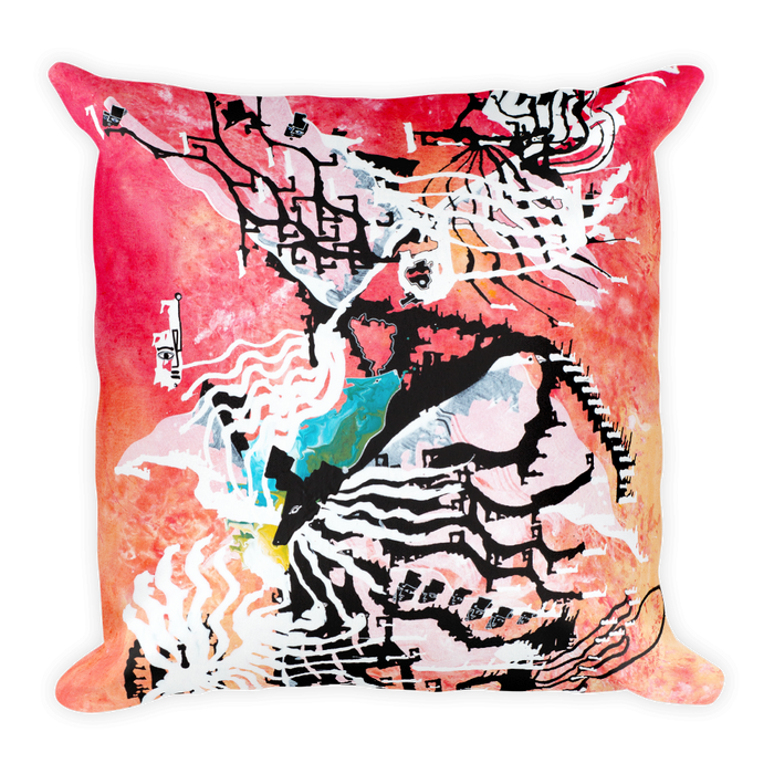 Abstract Vibration Square Pillow