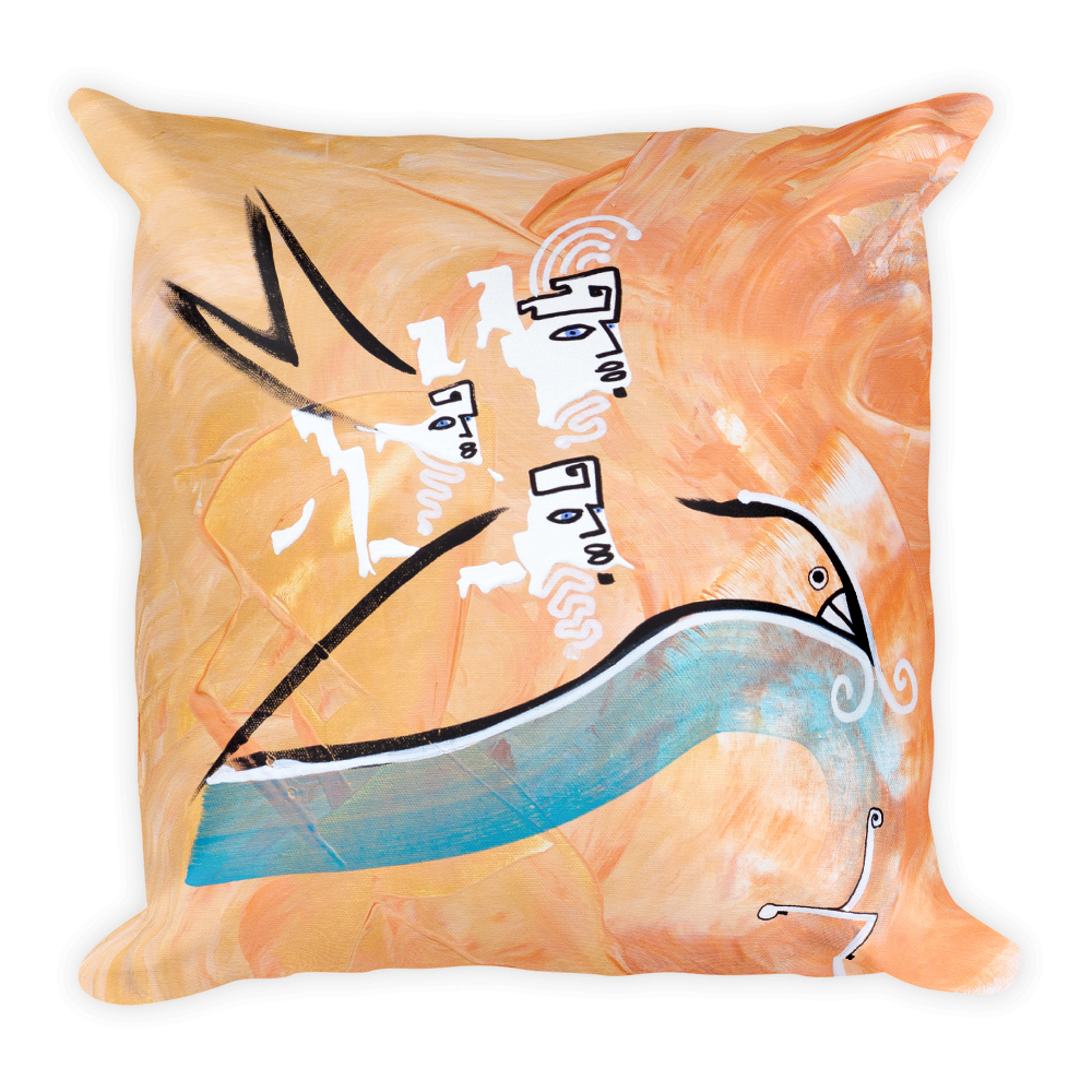 Spirit Guides Arrrive Square Pillow