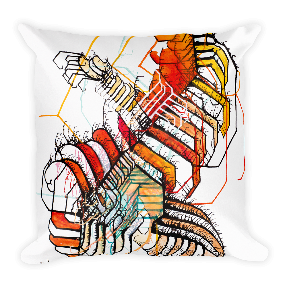 Surfer Square Pillow