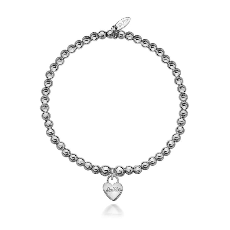 The Signature Dollie Heart Silver Bracelet