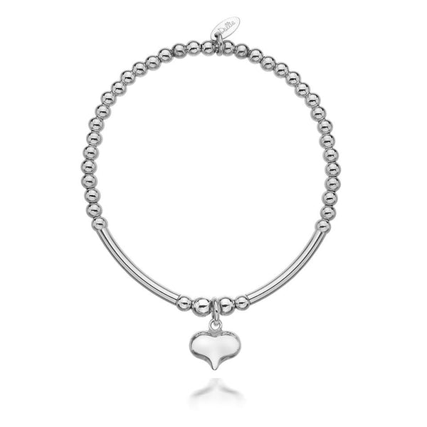 Paris Heart Tube Bracelet