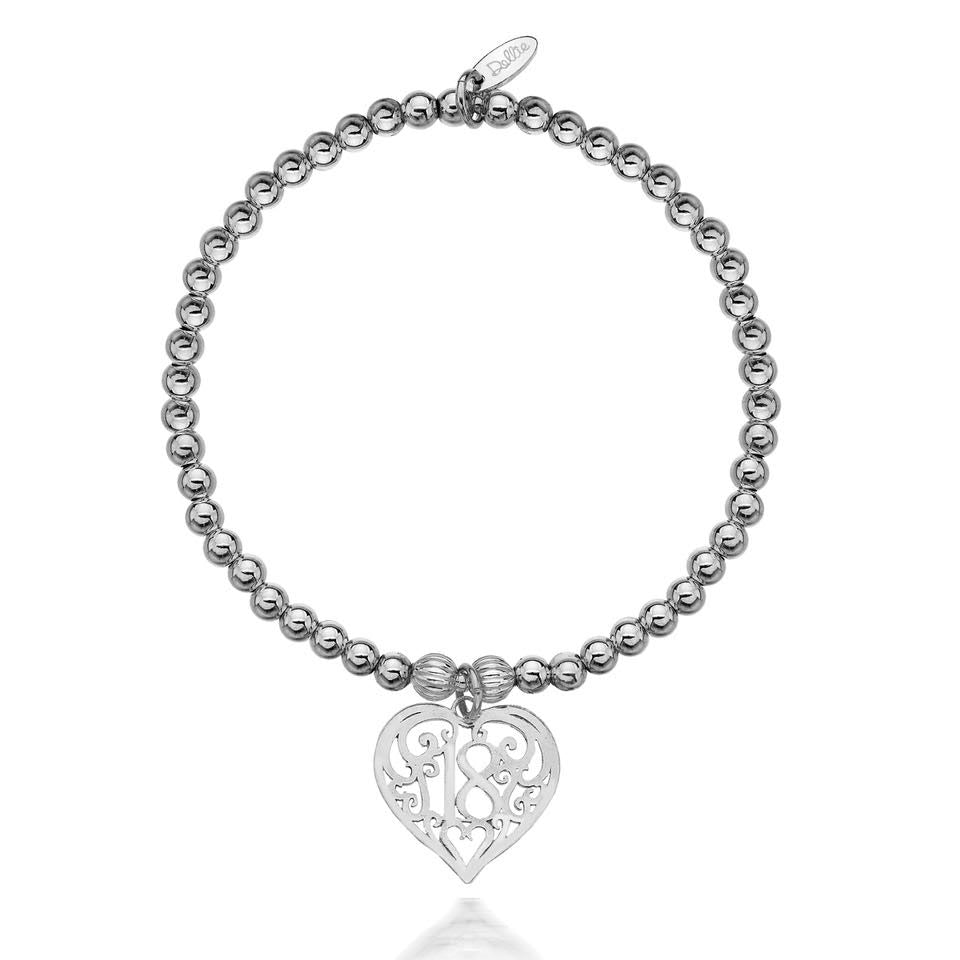 Dollie '18' Heart Bracelet