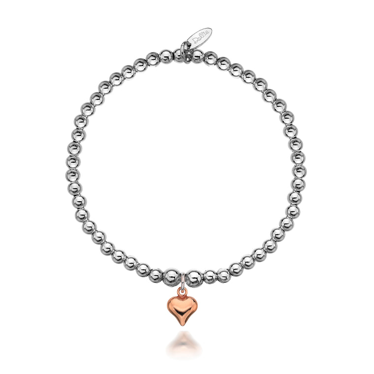 Gigi Rose Heart Bracelet
