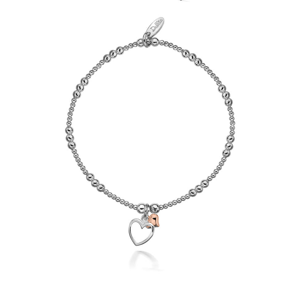 Alicia Double Rose Heart Bracelet