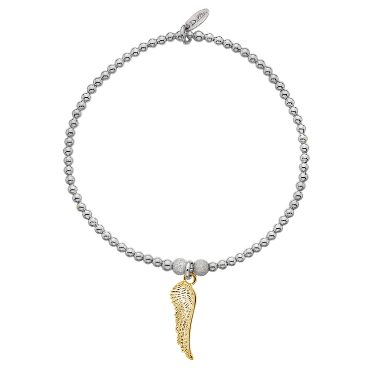 She Flies With Her Own Wings Golden Bracelet