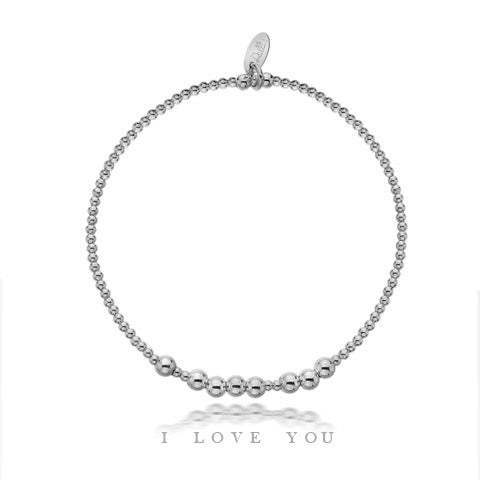 Secret Message 'I Love You' Bracelet