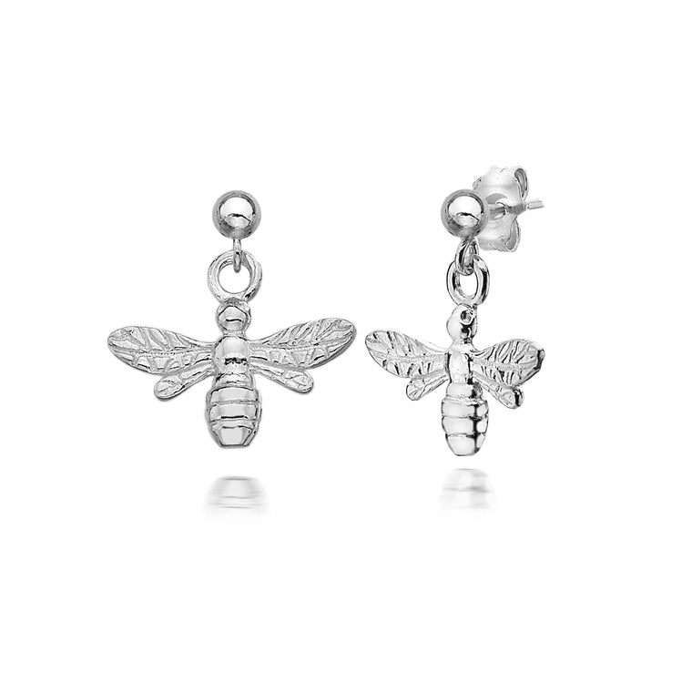Queen Bee Silver Earrings