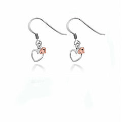 Alicia Double Rose Heart Earrings