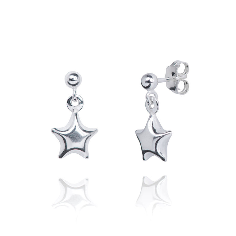 Astra Silver Star Earrings