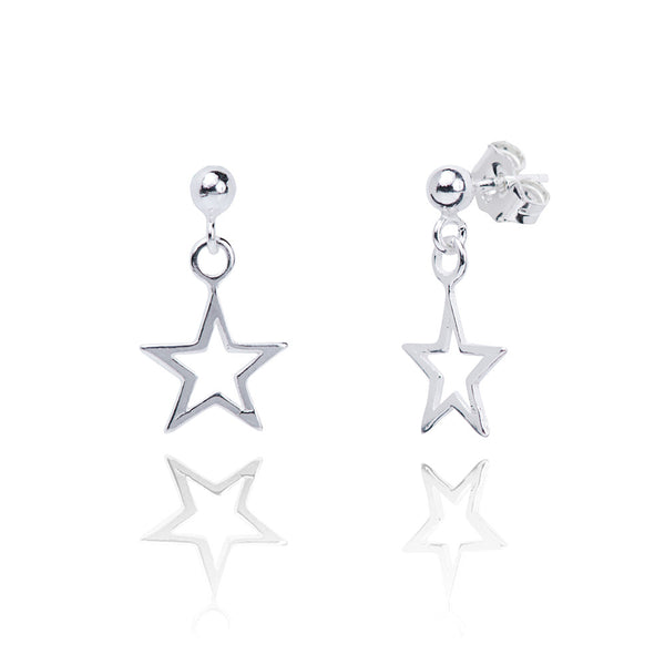 Stela Silver Charm Earrings