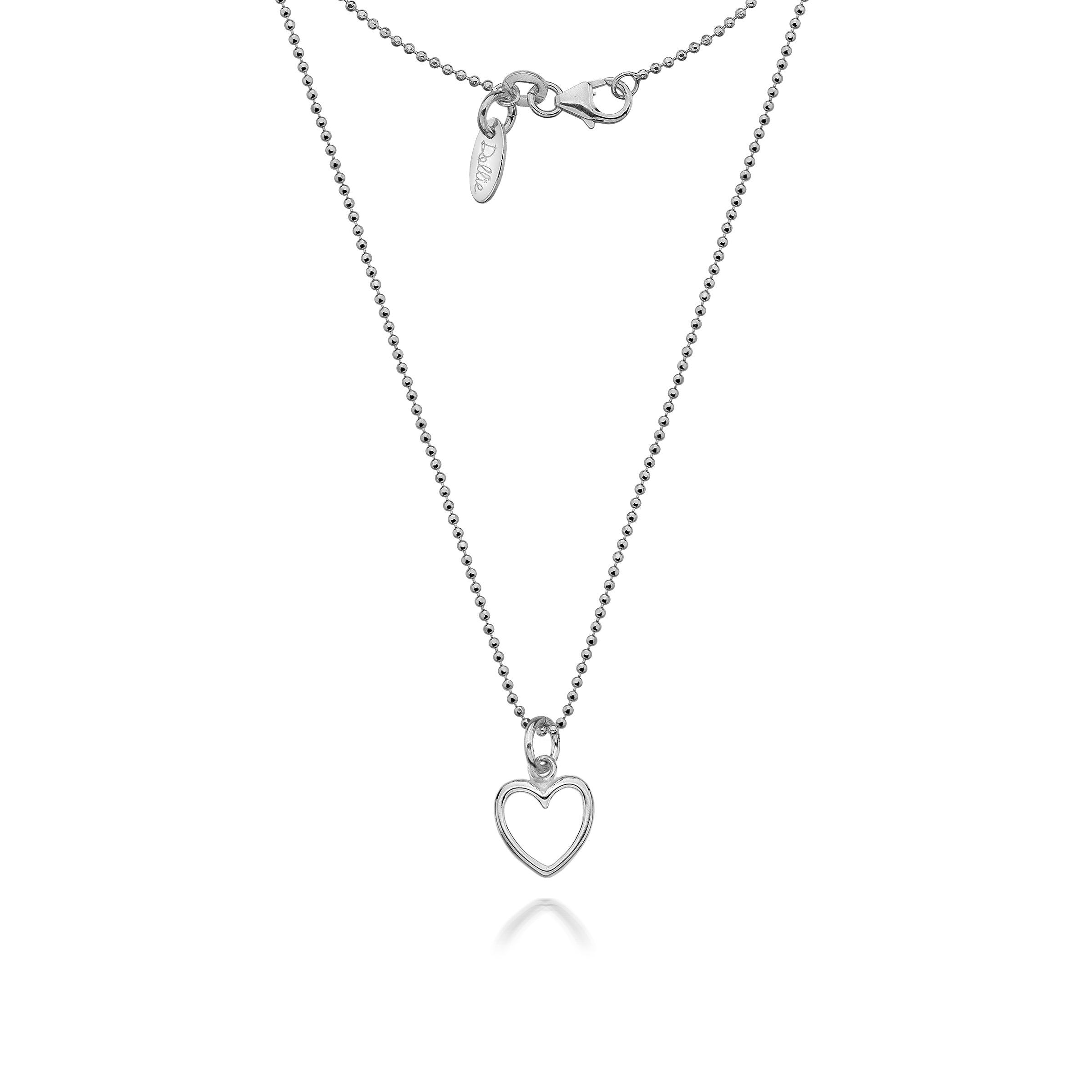 product katy necklace small open wilkinson heart wire jewellery