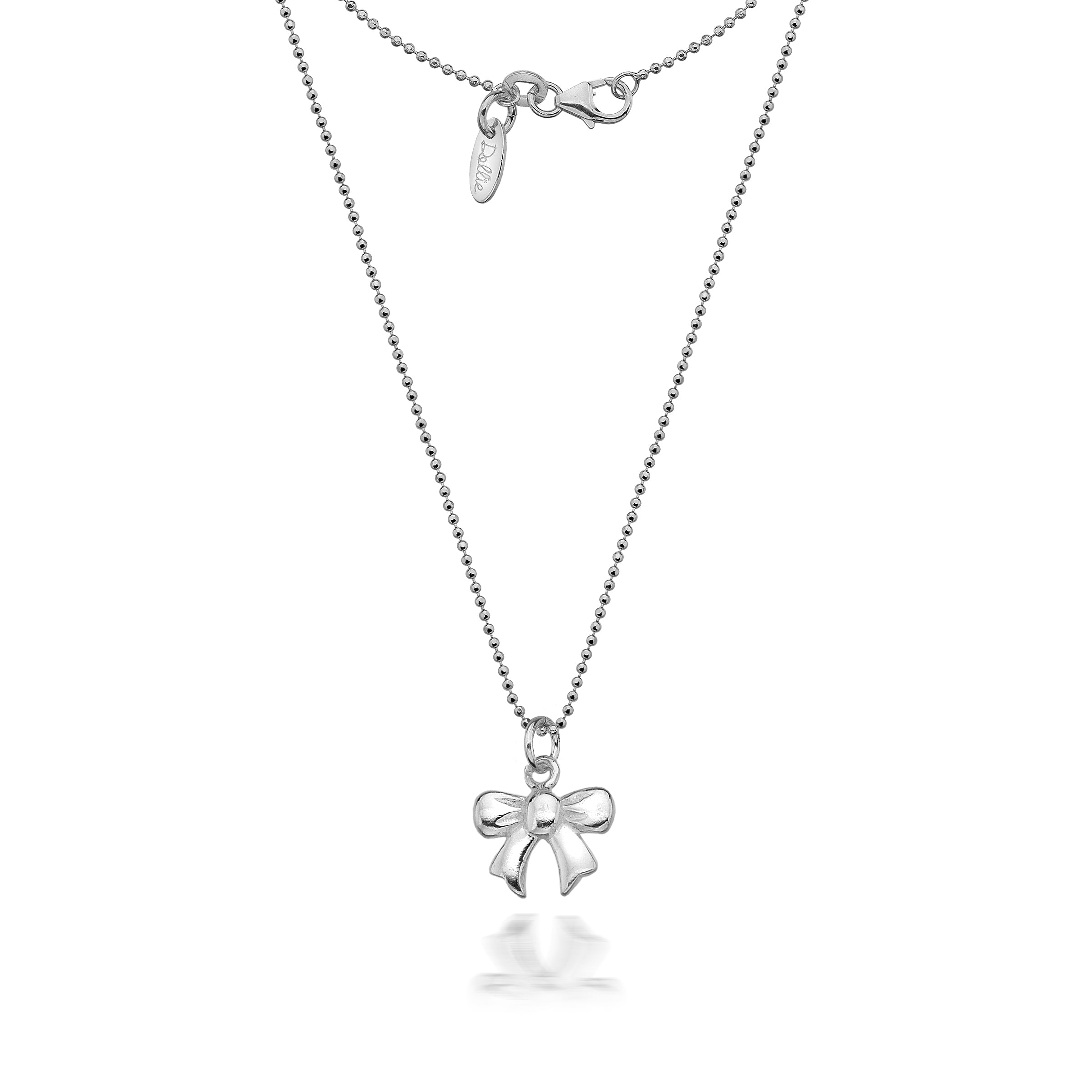 diamond necklace pav open featuring bow collections graff motif a