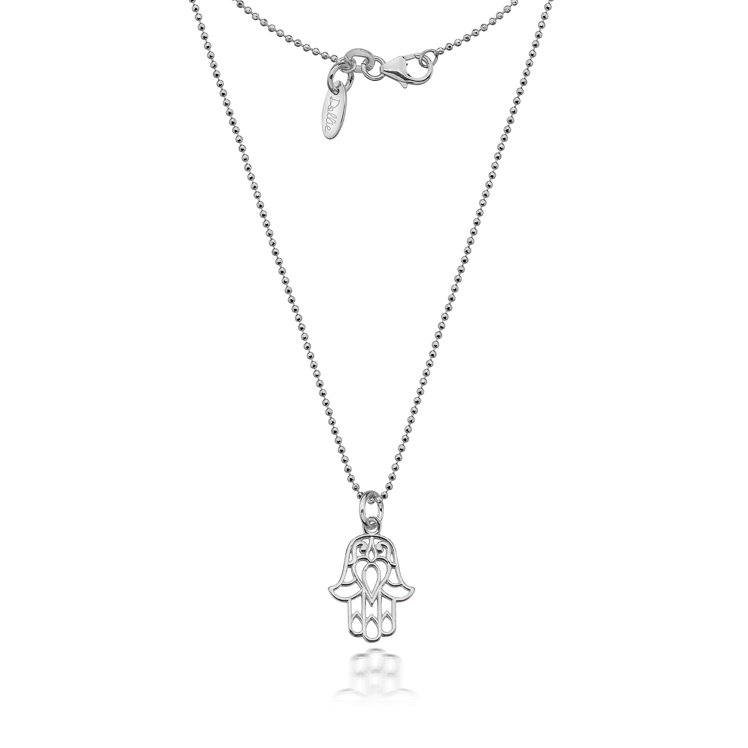 euphoria of small silver hand image product c hamsa necklace