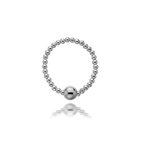 Silver Sphere Ring