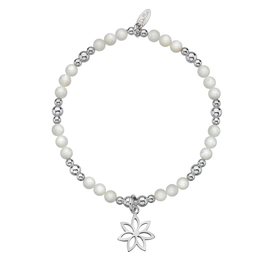 Diamond Cut Flower Bracelet