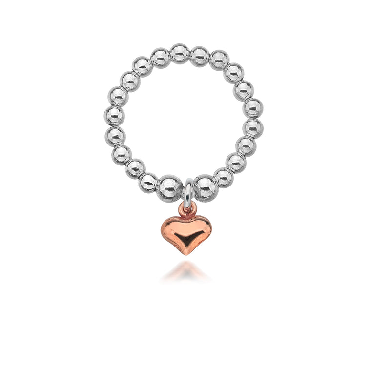 Gigi Rose Gold Heart Ring